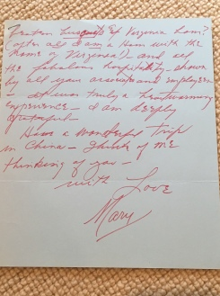 Letter from Mary Martin 2