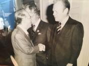 Grandpa meeting Gerald Ford